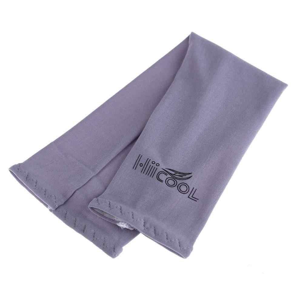 1 Paar Cooling Arm Sleeves Cover Uv Sun Protection Golf Fiets Spandex Polyurethaan Nylon Outdoor Sport Veiligheid Arm Warmers
