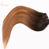 Yesowo Straight Human Hair Weft 14Inch 22Inch Three Tone Color 1b/6/27# Ombre Human Hair Weave Cheap Remy Vietnamese hair
