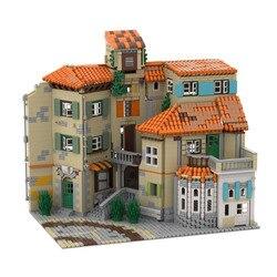 3365 PCS MOC City Street Scene Italian Style House Building Blocks Modular Construction Block Model for Children Gift