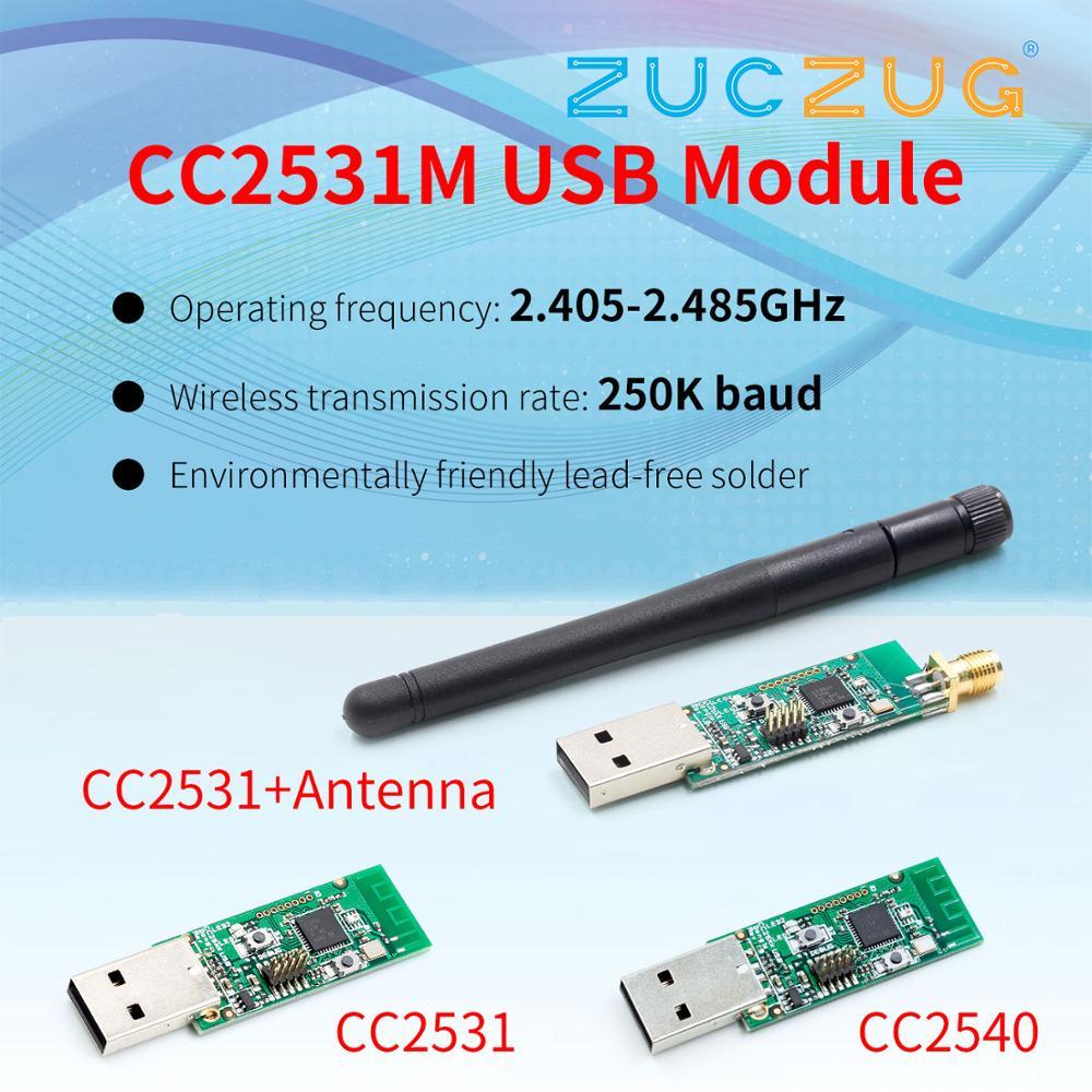 Wireless Zigbee CC2531 Sniffer Bare Board Packet Protocol Analyzer Module USB Interface Dongle Capture Packet Zigbee Module