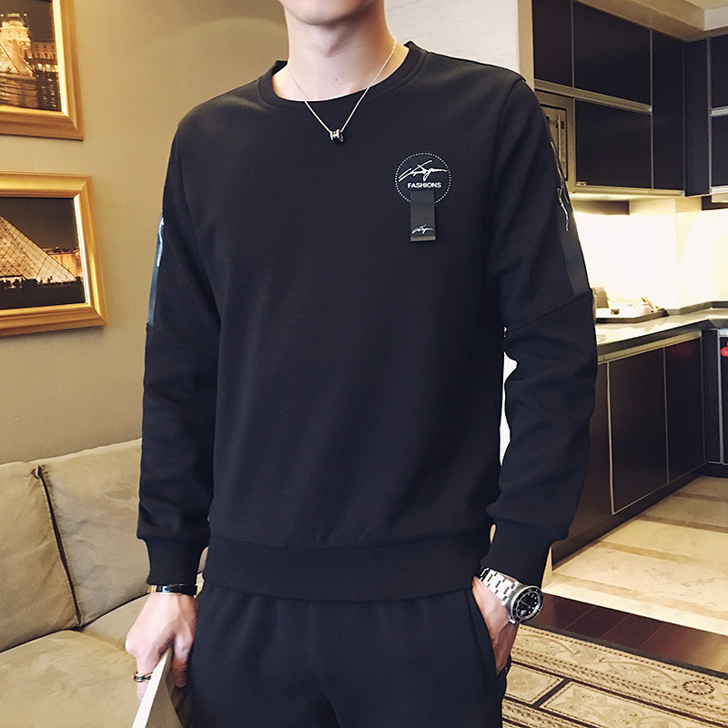 2020 Season Men's Sweater Trousers Suit Youth Leisure Running Sports Suit Student Two-piece Set Chao