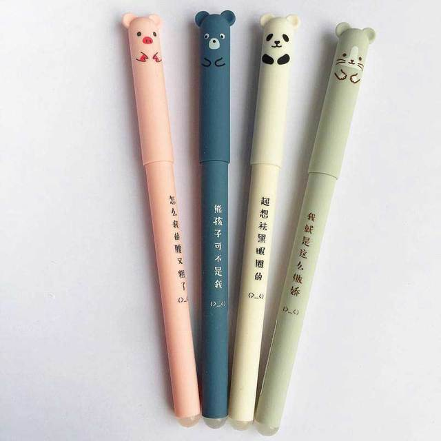 Blue Ink Erasable Pen For School Student Stationery Writing Washable Handle Pens Multifunction Ballpoint pen Papelaria Escolar 3