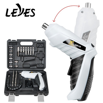 Electric Screwdriver Set Precision Power Tool Lithium Battery USB Rechargeable Cordless Folding Drill Combination Mini Multitool aotuo cordless electric screwdriver lithium battery mini two speed electric drill rechargeable screwdriver home diy electrictool