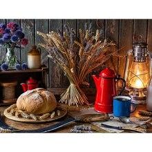 Diy картина по номерам Кухня Еда маслом Раскраска 40x50 см wall