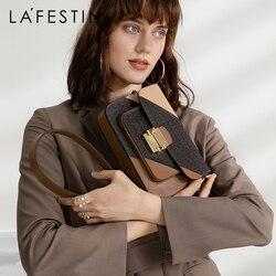 LAFESTIN Брендовая женская сумка 2019 Осень Новые Роскошные сумки через плечо модные сумки через плечо для дам