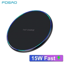 FDGAO 15W QI Wireless Charger For Samsung S10 S9 S8 Note 10 9 8 USB C 10W Fast Charging Pad for iPhone XS Max XR X 8 Airpods 2