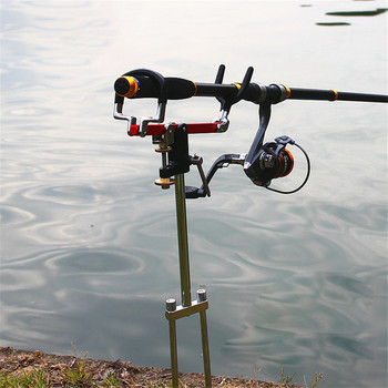 360 Degree Rotate Fishing Rod Holder Adjustable  Folding Fishing Accessories Bracket  Firmly Easy To Install  Portable 2