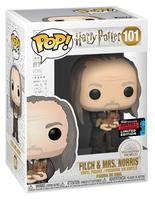 2019 NYCC Exclusive Official Funko pop Movies: Harry Potter FILCH & MRS. Norris Vinyl Action Figure Collectible Model Toy