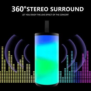 Altavoz TG169 Bluetooth, altavoz portátil para exteriores, columna inalámbrica, sonido estéreo 3D envolvente de música con FM, destello de luz LED a prueba de agua