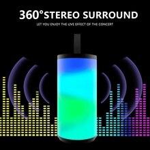 TG169 Bluetooth hoparlör taşınabilir açık hoparlör kablosuz sütun 3D Stereo müzik Surround FM ile su geçirmez LED el feneri