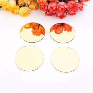 50pcs 5CM Small Round Wall Mirror Sticker 3D Acrylic Dots Mirror Sticker Wedding Decoration Party Decor