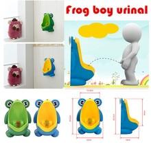 Новое поступление, Детский горшок для мальчика, тренировочный туалет, лягушка, Детская подставка, вертикальный писсуар для мальчиков