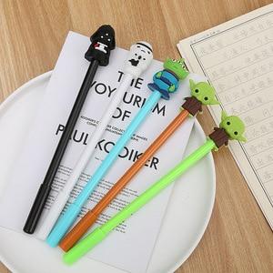 Image 2 - 40 adet/grup yaratıcı siyah beyaz jel kalem sevimli öğrenci ofis kırtasiye okul su jel kalem siyah mürekkep imza kalem
