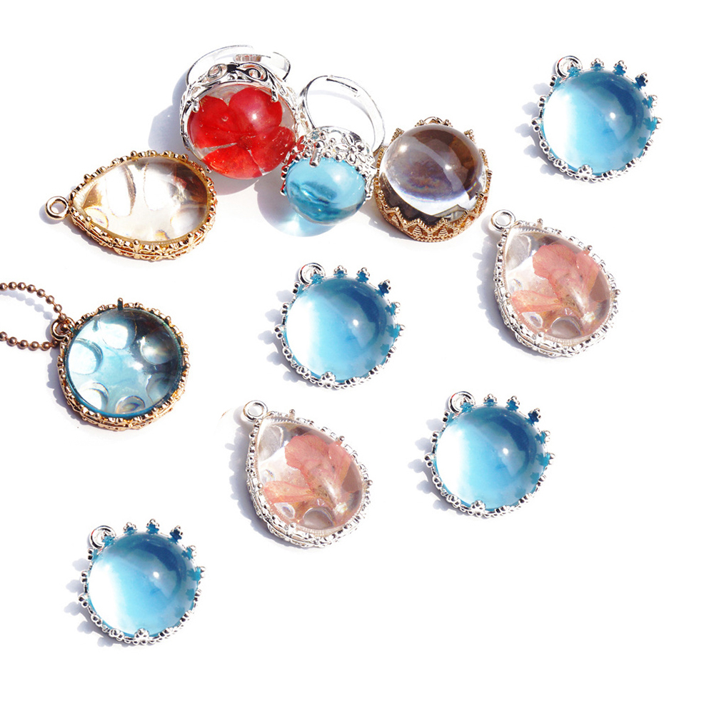 5 sztuk pierścień pusty s baza wisiorek Cabochon baza Cabochon Charms ustawienie pierścionek w kształcie korony pierścień pusty taca do tworzenia biżuterii znalezienie kolczyk