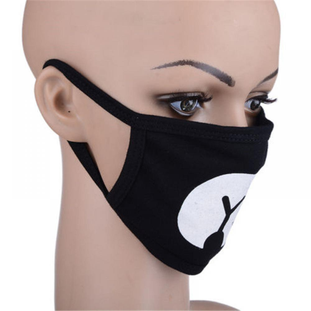 Washable Cotton Anti Dust Protective Double Kpop Mask Black White Anti-Dust Mouth Mask Health Cycling Cool Respirator Face Mask