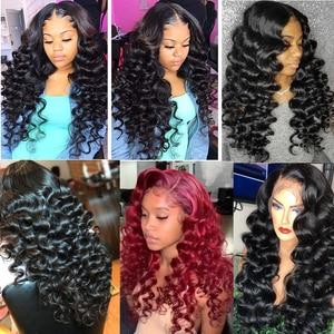 Image 2 - Karizma Brazilian Loose Wave Bundles With Closure 100% Human Hair Weave Bundles 3 Bundles With Closure Free Part Non Remy Hair