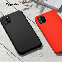 Oppselve Phone Case For iPhone 11 XI XIR X XR XS Max Simple Solid Color Ultra Thin Liquid Candy Back Cover 2019