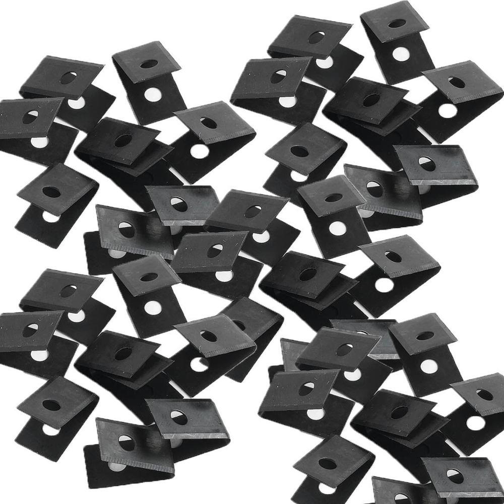 10pcs/bag Painted Black Matt Pvc Floor Vinyl Welding Grooving U Blades 20x10mm Stainless Steel Blade Slotted Blade Hardware Tool Orders Are Welcome.