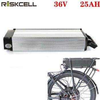 Batería de bicicleta eléctrica, 36v, 1000w, rejilla trasera, 36v, 25AH, batería de iones de litio, 36v