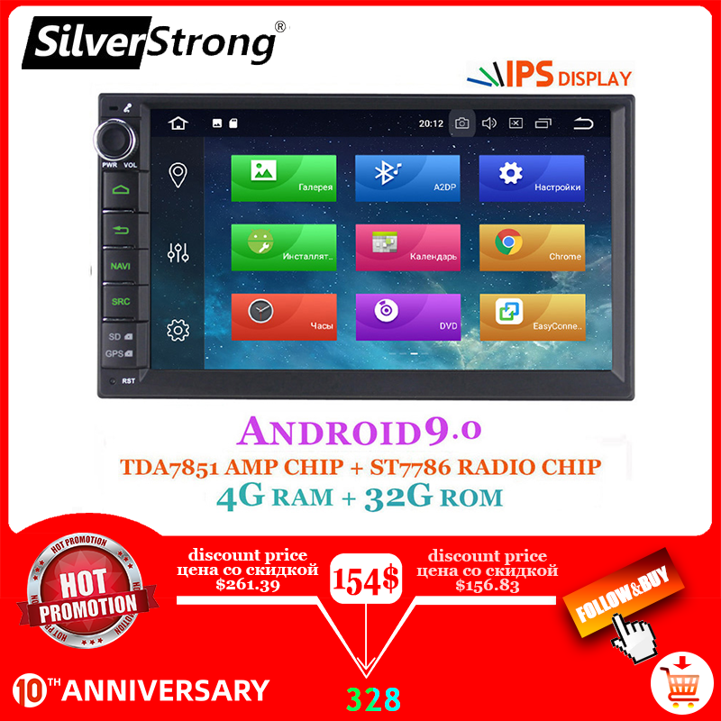 Silverstrong 2DIN Auto Android10-9.0 Auto Dvd Radio Universele Ips Multimedia Auto Stereo Gps 2din Navigatie Optie 2G 707x3-x5
