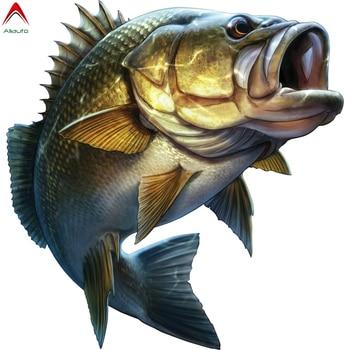 Aliauto Personality Fishing Car Sticker Large Mouth Bass Fish Boat Kayak Laptop Window Waterproof Vinyl Decal,20cm*20cm 3 sizes outdoor sports go fishing white perch car sticker window fish tank decal vinyl tape h8100