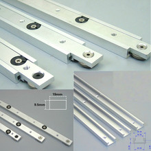 Herramientas de Carpintería de Aleación de Aluminio T-tracks Slot Miter Track y Miter Bar Slider Mesa Sierra Manómetro Barra DIY