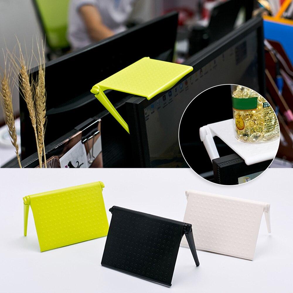 Office Storage Rack Clip Computer Screen Table Desk Accessories Organizer For Cosmetics Shelf Home Office Organizer