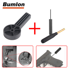 glock tool vise block hunting gunsmith table bench handgun disassembly tool take down punch for drag and frame airsoft accessory tactical universal gunsmithing bench block handgun pistol m1911 ruger 10 22s style reassemble firearm assembly bench block