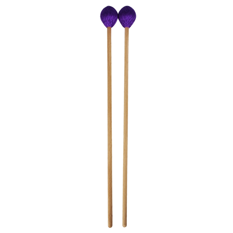 TOP!-Middle Marimba Stick Mallets Xylophone Glockenspiel Mallet With Beech Handle Percussion Kit Musical Instrument Accessories