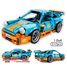 517pcs City Sport Car DIY Pull Back Racing Car Building Blocks For Technic Car Racers Figures Bricks Toys For Children Boy Gifts 1pc pull back car toys car children kids racing car mini cars cartoon pull back bus truck toys for children boy gifts