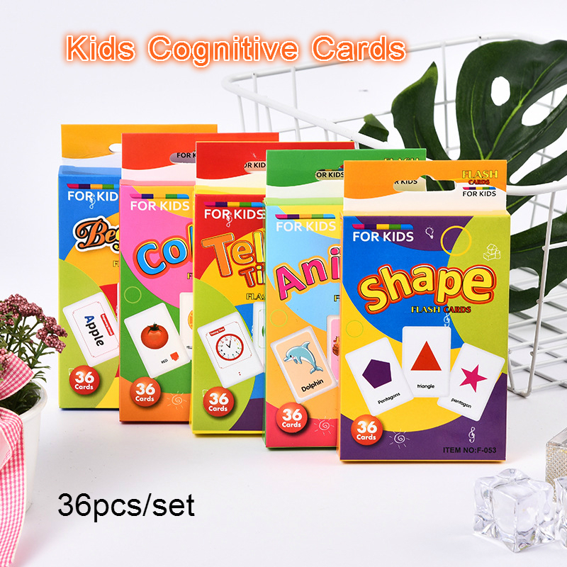 Baby Toys Montessori Cognitive Cards Toy For Kids Learning Education Fruit/Animal/Time/Letter/Shape Cards Books Educational Toys