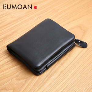 Men's Leather Wallet Zipper Sh
