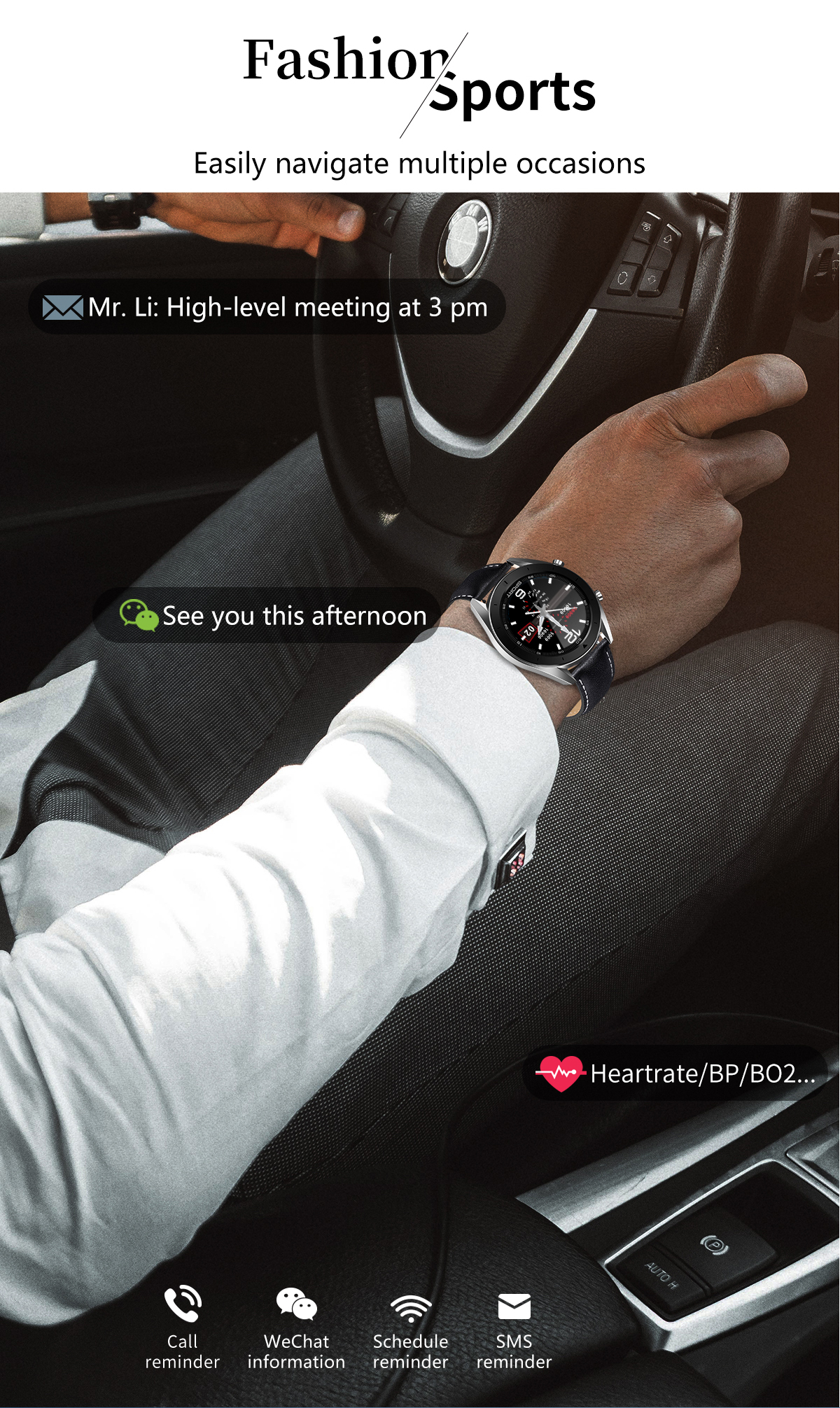 DT99 Smart Watch IP68 Waterproof Round HD Screen ECG Detection Changeable Dials Smartwatch Fitness Tracker Men