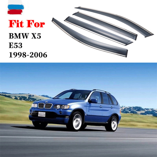 For BMW X5 E53 1998-2006 window visor car rain shield deflectors awning trim cover exterior car-styling accessories parts 3