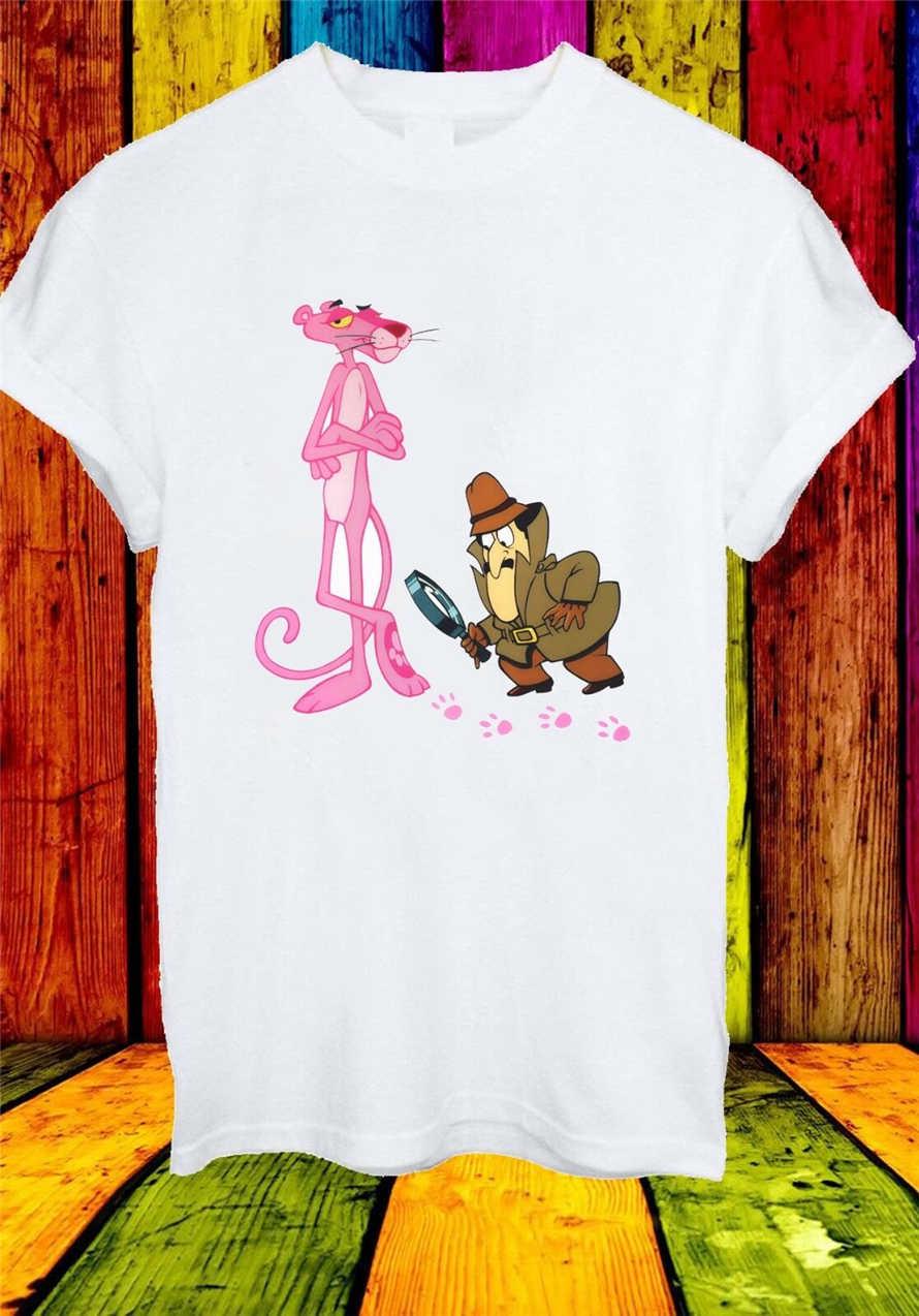 Розовая пантера Inspector Clouseau мультяшная забавная Мужская и женская футболка унисекс 714 Новинка унисекс Забавные топы Футболка