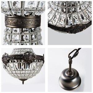 Image 3 - Retro vintage grande estilo império francês redondo led e14 lustre de cristal moderno 6 luzes da lâmpada para sala estar do hotel lobby
