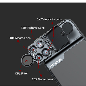 Image 4 - Ulanzi 5 in 1 Phone Lens Case Kit 20X Super Macro Lens CPL Fisheye Telephoto Lens for iPhone 11 Pro Max Pixel 4 4XL