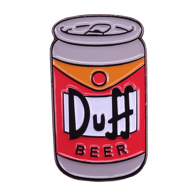 Duff beer badge Simpson pin beer cans brooch art backpack decor alcohol addict gift|Brooches| - AliExpress