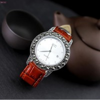 Thai silver S925 sterling silver jewelry exquisite craft couple accessories Watch men and women's bracelets for men and women