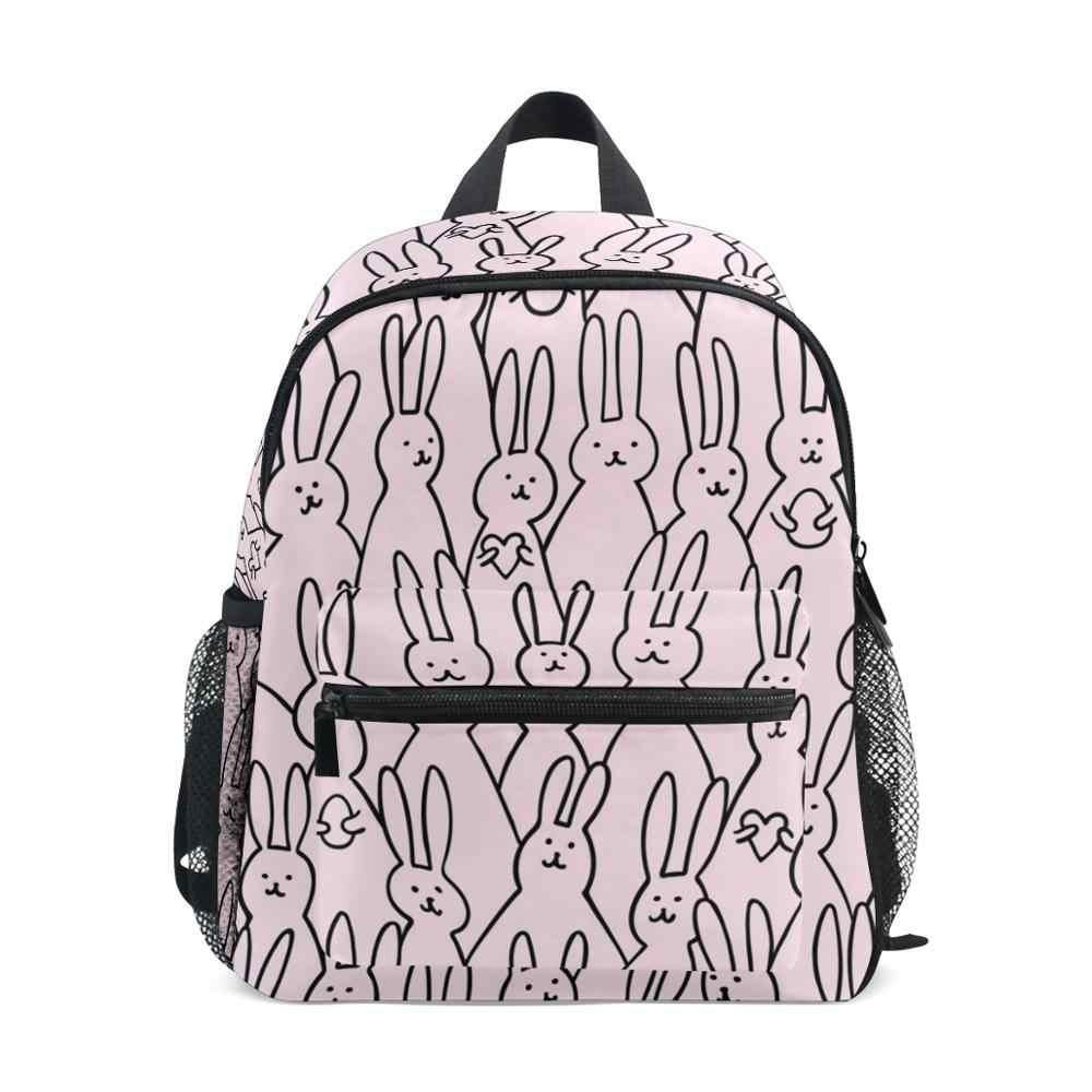 Alaza pequena mochila rosa mochila crianças sem costura pré-escolar do jardim de infância saco para a criança adequado for3-8 anos de idade