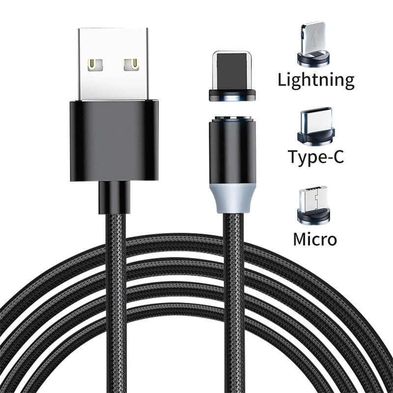 Magnetische Kabel Plug Micro Usb Type C Usb C 8 Pin Plug Snel Opladen Magneet Charger Cord Pluggen Ronde Magnetische kabel Plug