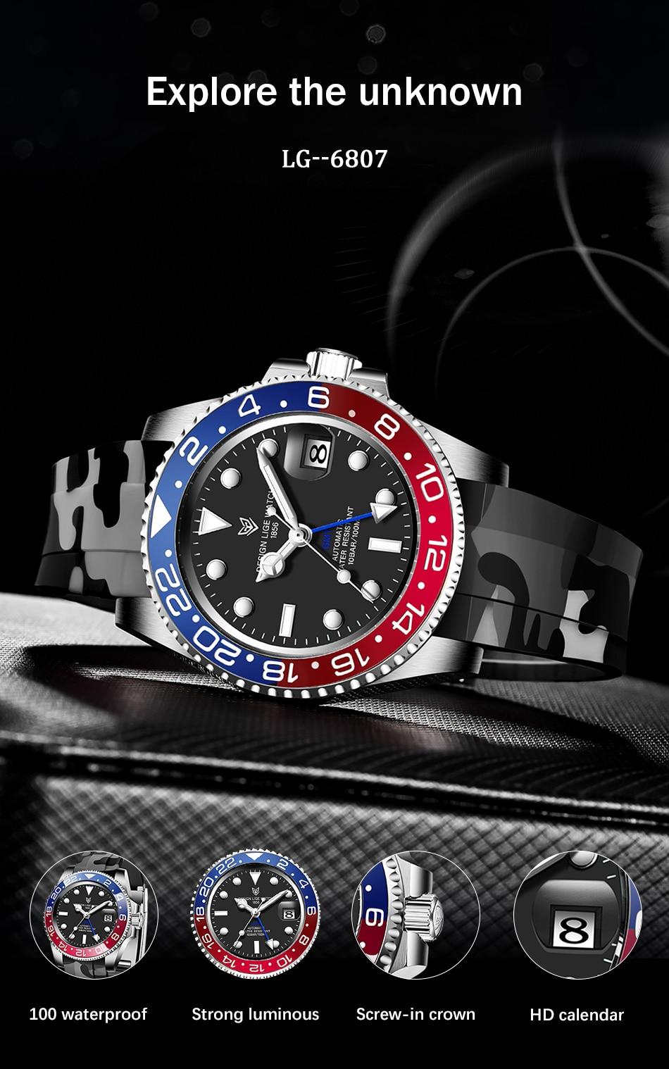 relógio mecânico masculino hardlex vidro marca superior