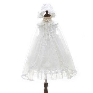 3 предмета, белые платья для маленьких девочек кружевное платье на крестины, платье для крещения для малышей платье для первого дня рождения...