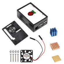 Fan Heat-Sink Touch-Screen Raspberry Pi Abs-Case 3 for 3B 3/RPI