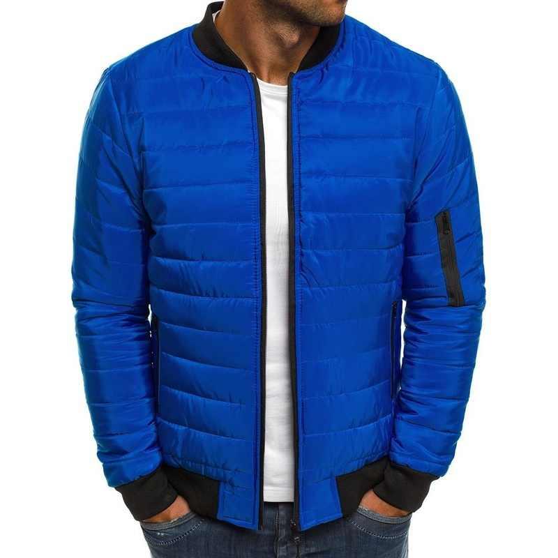 Abrigos de invierno ZOGGA para hombre, 6 colores de talla grande, S-3XL para hombre, moda Otoño, chaqueta acolchada de algodón, ropa cálida para hombre, Parka