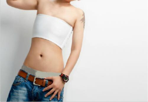 Lesbian Fake Kid Cotton Crop Bra Wrapped Chest Strapless Sweatshirt Chest Binder Bra Bra Tubeless Underwear Black / White