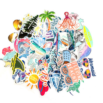 Tropical Surf Sticker Pack (50 count) 1