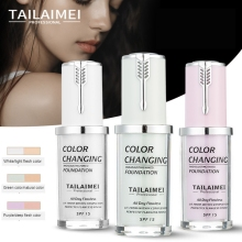 40ml Color Changing Liquid Foundation Oil-control Concealer Cream Hydrating Long Lasting Makeup Maquiagem