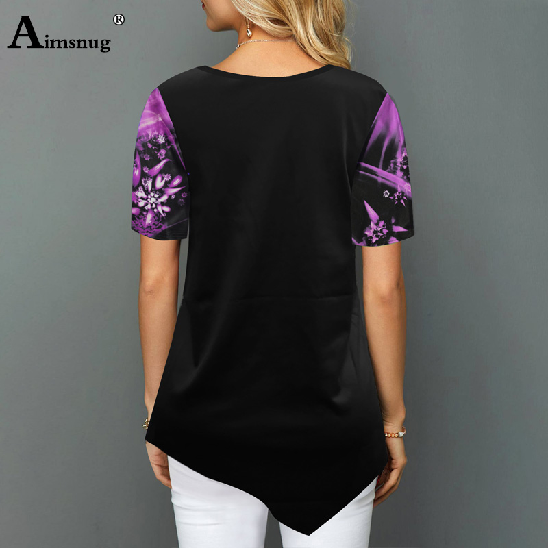 H49d17823f5c44cc5bababc5c404be5d2J - Plus size 4xl 5xl Women Fashion Print Tops Round Neck Short Sleeve Boho Tee shirts New Summer Female Casual Loose T-shirt