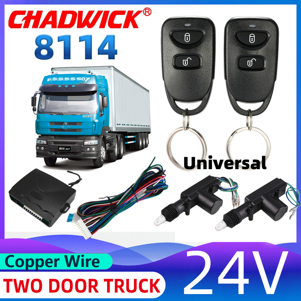 24V Truck Central Locking System quality Actuator Remote Contral Remote Key Keyless entry not car alarm system CHADWICK 8114